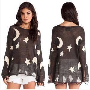 Wildfox White Label Moon & Stars Lennon Sweater